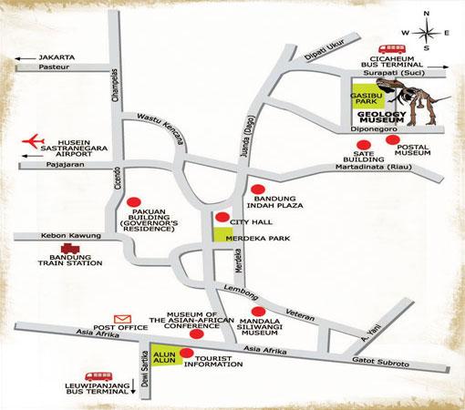 Peta Menuju Lokasi Museum Geologi (foto : travellia.net)