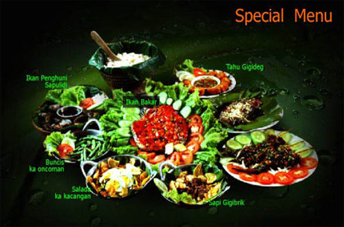 Ilustrasi menu special di Sapu Lidi Bandung (foto : sapulidisawah.com)