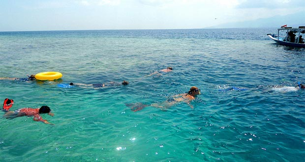Ilustrasi snorkeling di Pulau Menjangan, salah satu tempat wisata di Taman Nasional Bali Barat  (foto : tourandtravelwisataindonesia.com)