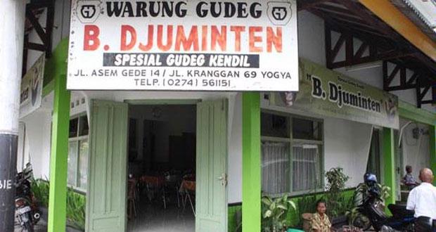Gudeg Bu Djuminten adalah salah satu gudeg Jogja paling enak dan terkenal (Foto : noenkcahyana.blogspot.com)
