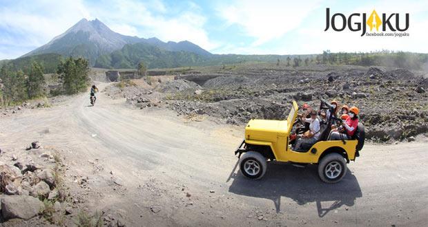 Off Road Lava Tour Merapi adalah salah satu tempat wisata di Jogja yang seru dan asyik (Foto : yogyakartatourism.com)