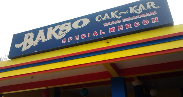 Bakso Cak Kar Wong Singosari adalah salah satu tempat makan enak di Malang untuk buka puasa menu andalan bakso (Foto : nyobamoto.com)