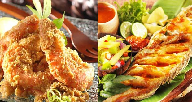 Ilustrasi menu di resto Raja Rasa, salah satu tempat makan enak di Bandung untuk buka puasa (Foto : rajarasa.com)